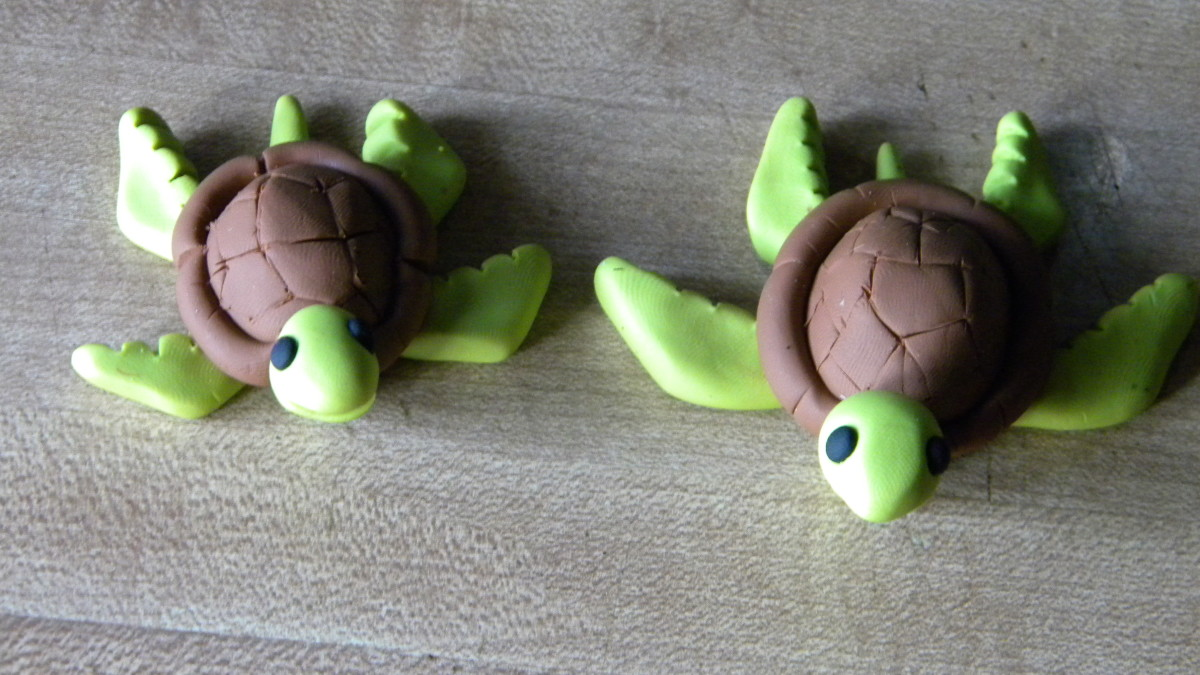 Two previously-made turtles I crafted.