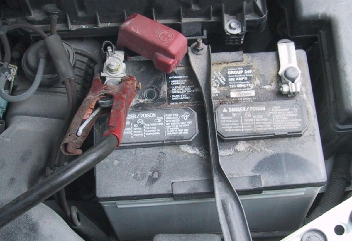 car battery hydrometer  spot  undercharged