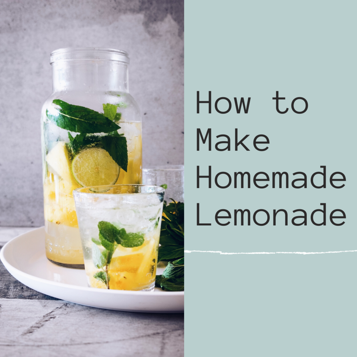 Making Homemade Lemonade