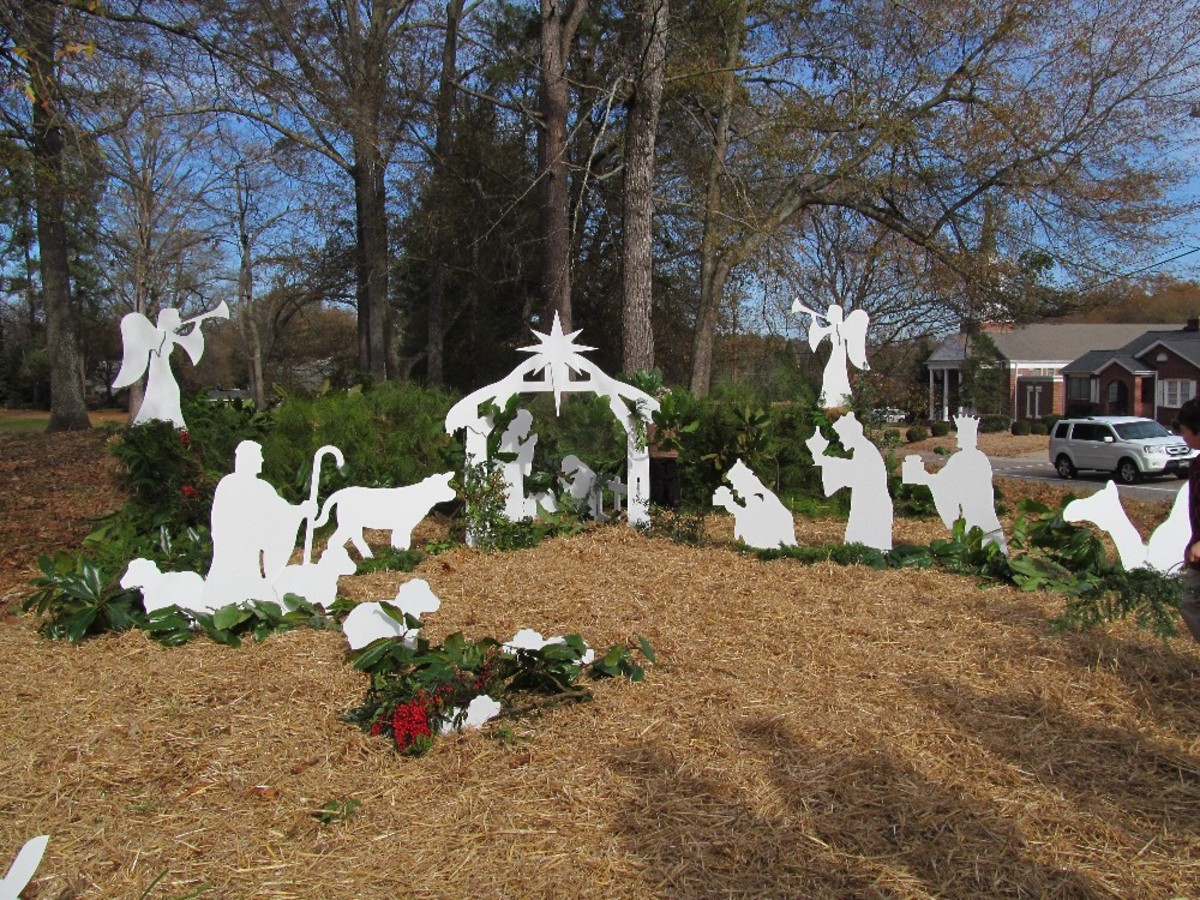 Setting Up an Outdoor Nativity Set Made a Difference in Our Community