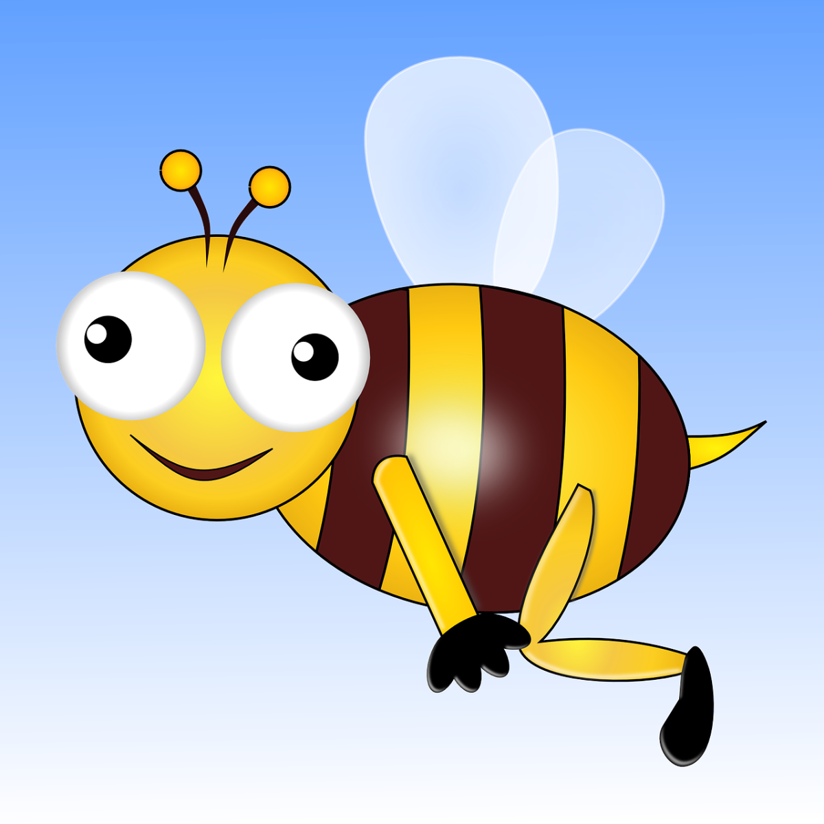 A cute illustration of a honey bee.