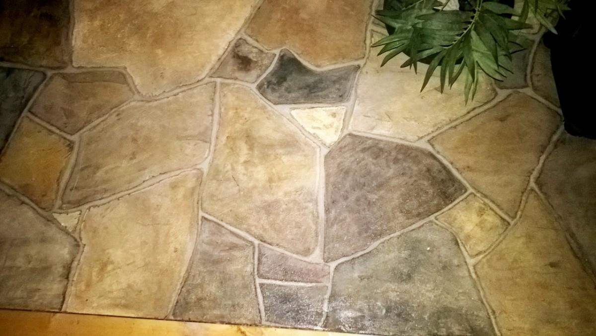 Painted Flagstone Floors A Diy Tutorial