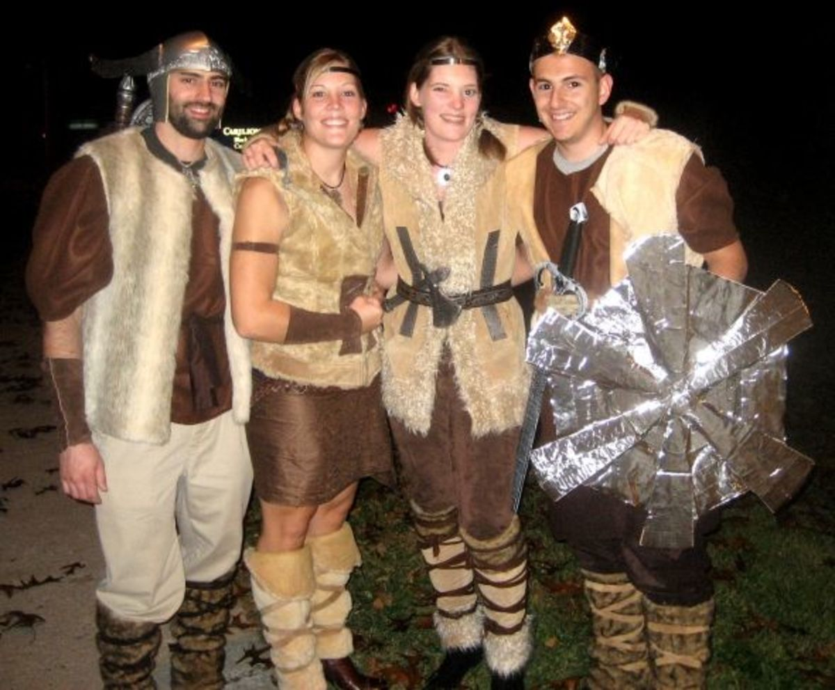 Here's our motley Viking crew, ready to go out and pillage!