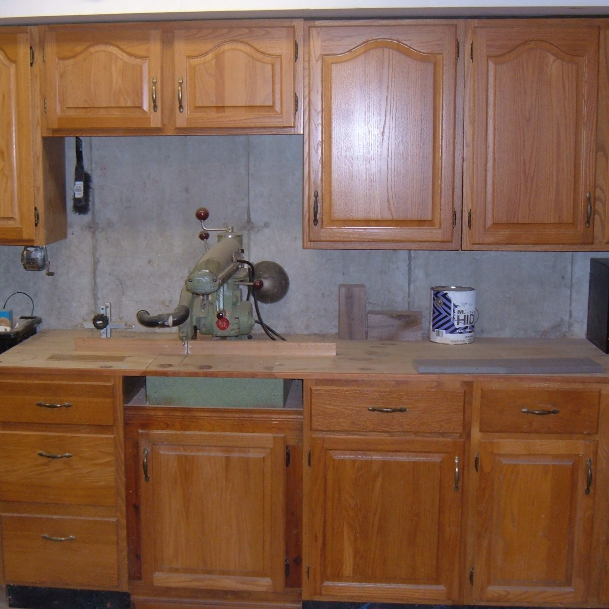 My Woodshop Storage Ideas: Recycling Kitchen Cabinets Into Garage Storage Units