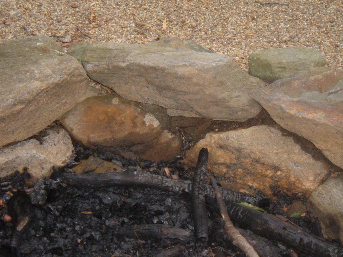 Stacked Fieldstone Fire Pit