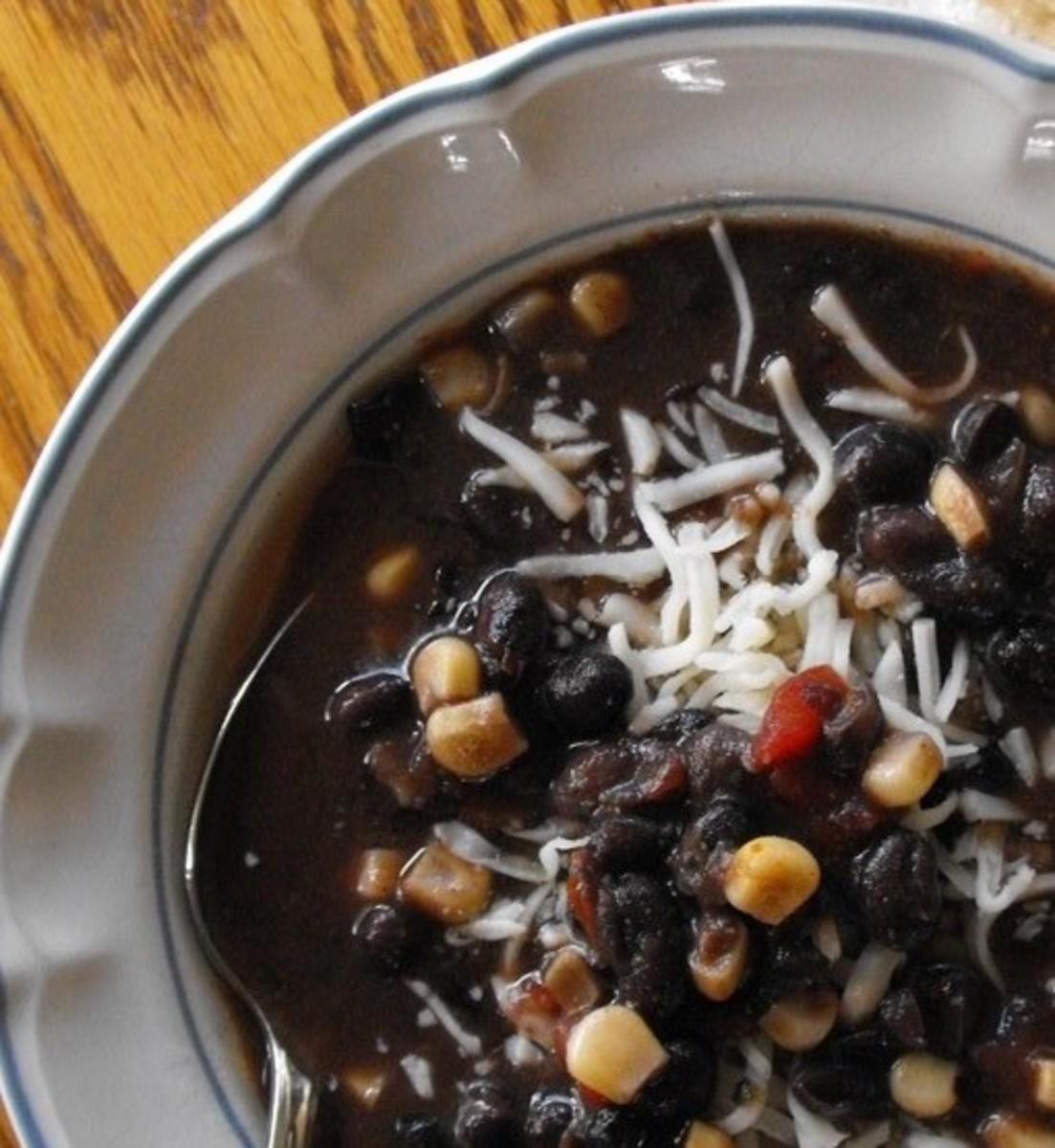 Satisfying Black Bean Soup