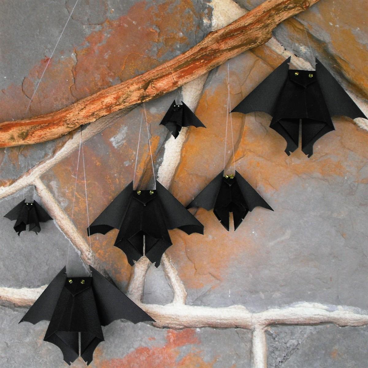 Origami Bat for Halloween