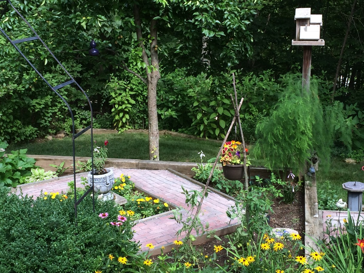 Our gardens combine ornamentals and herbs along with native plants