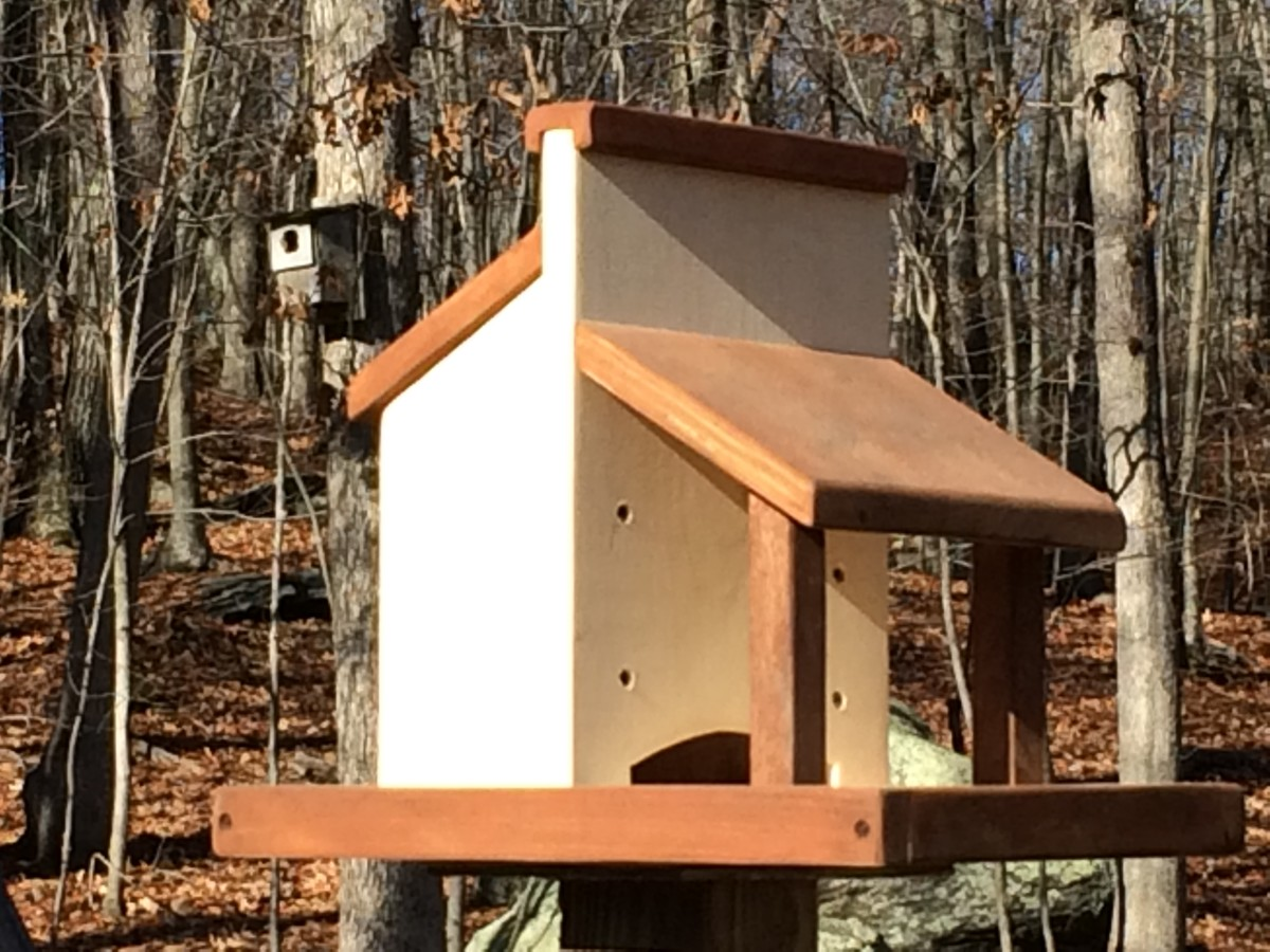 My handcrafted platform bird feeder