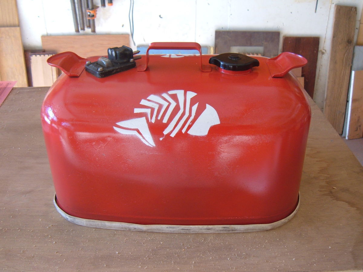 Restored Metal Gas Tank