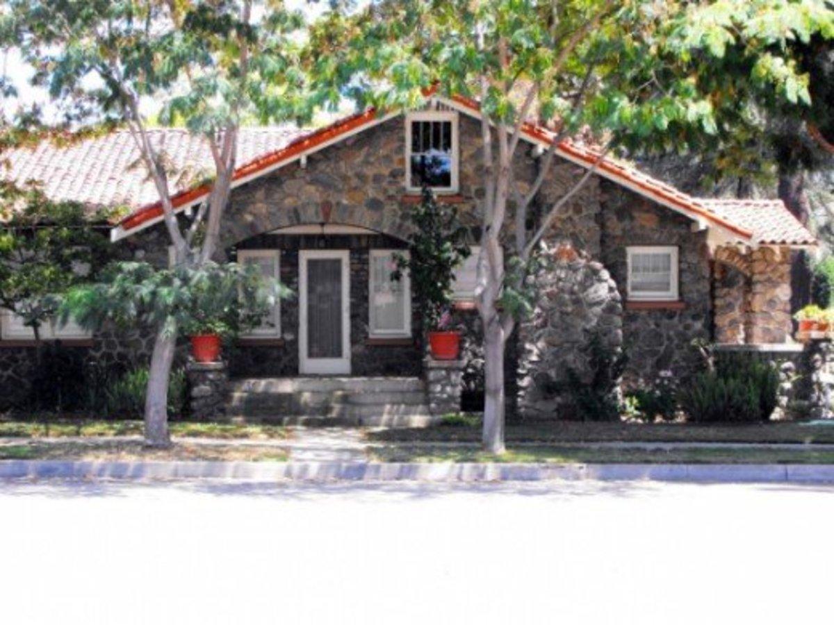 Vintage River Rock Homes in Los Angeles County, CA