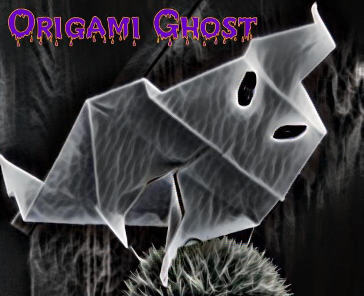 Origami Ghost and Decorating Ideas for Halloween