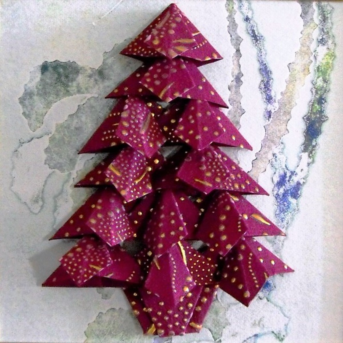 Tea Bag Folding Christmas Tree Pattern