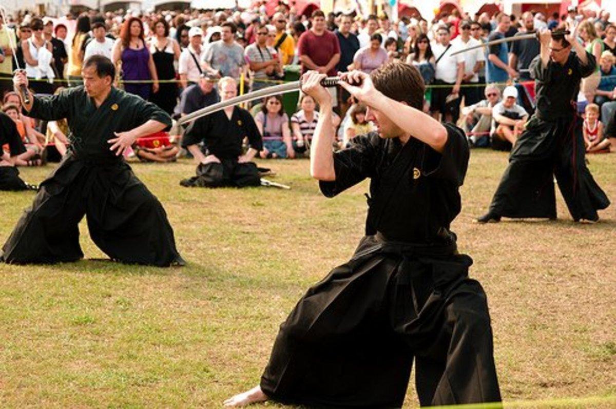 Practicing Kenjutsu Stances