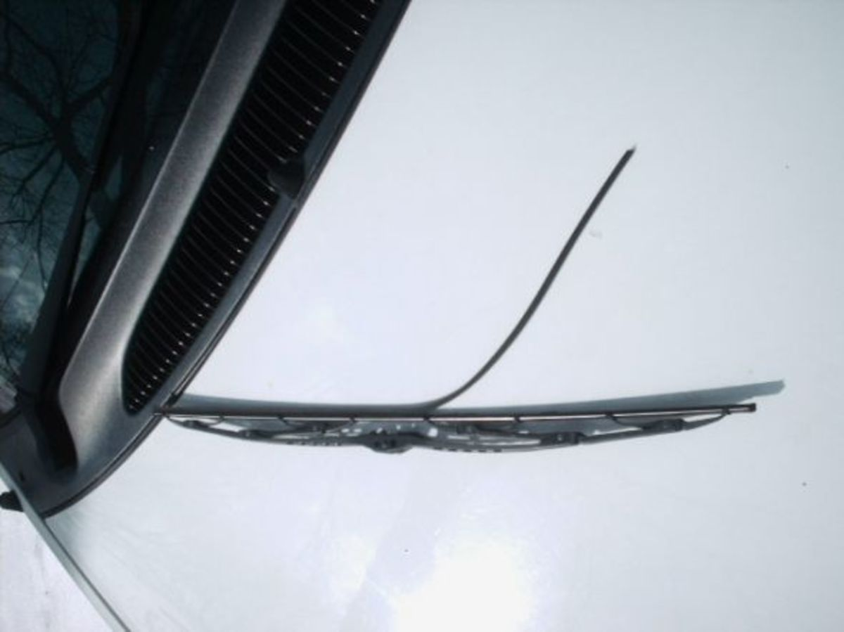 broken wiper blade