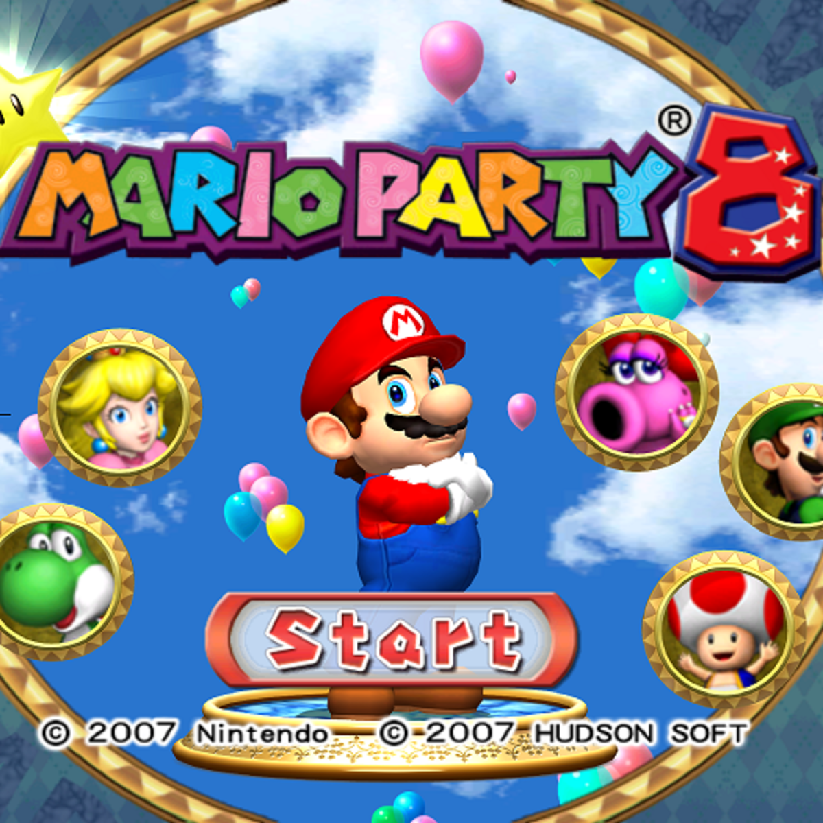 Mario Party 8 Title Screen