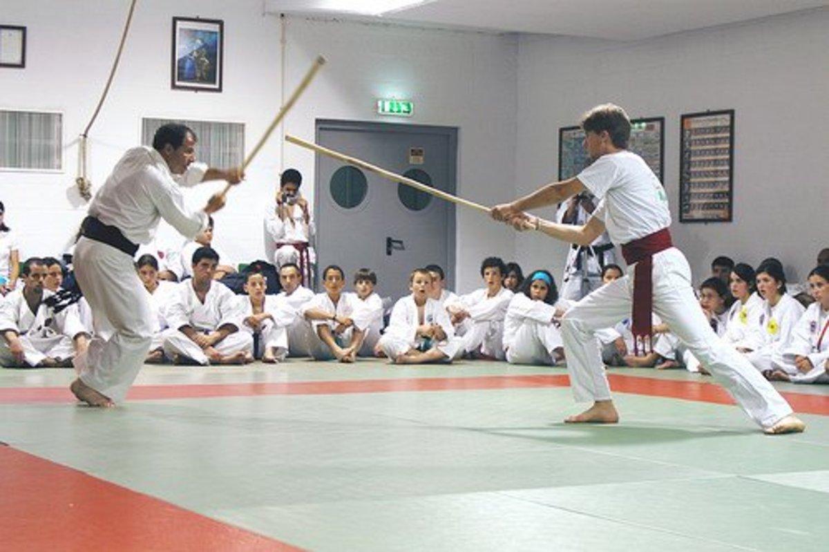 Aikido Training With Jo Staffs