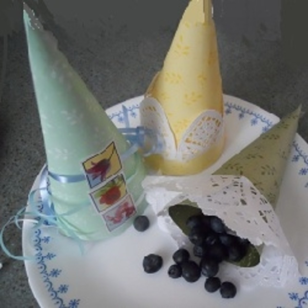 Blueberry Treat Cones