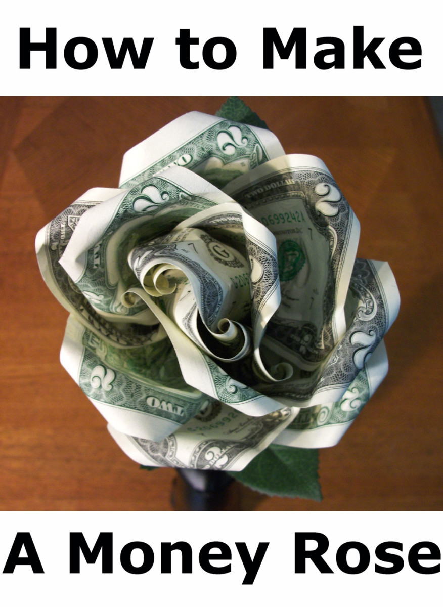 Открытка цветок из денег своими руками