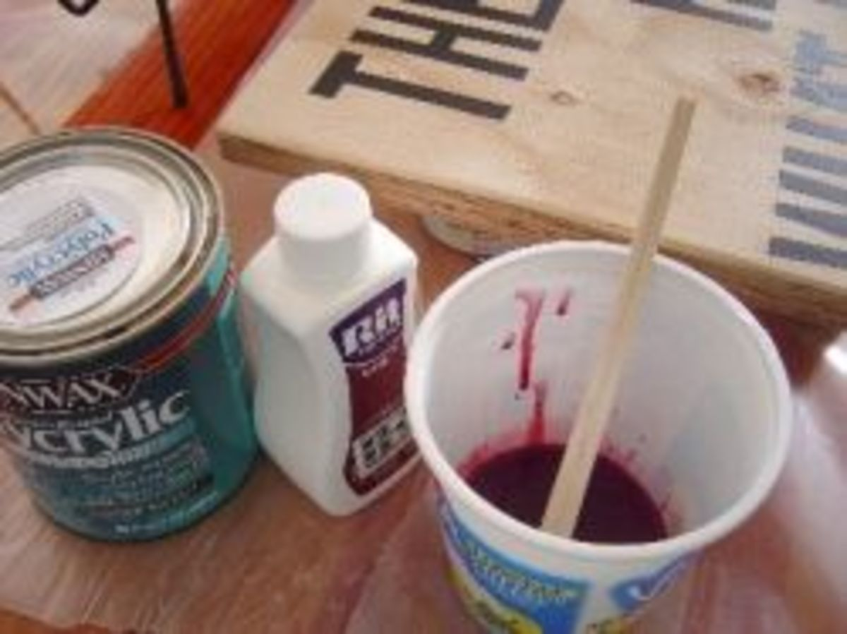 Color Dye Wood