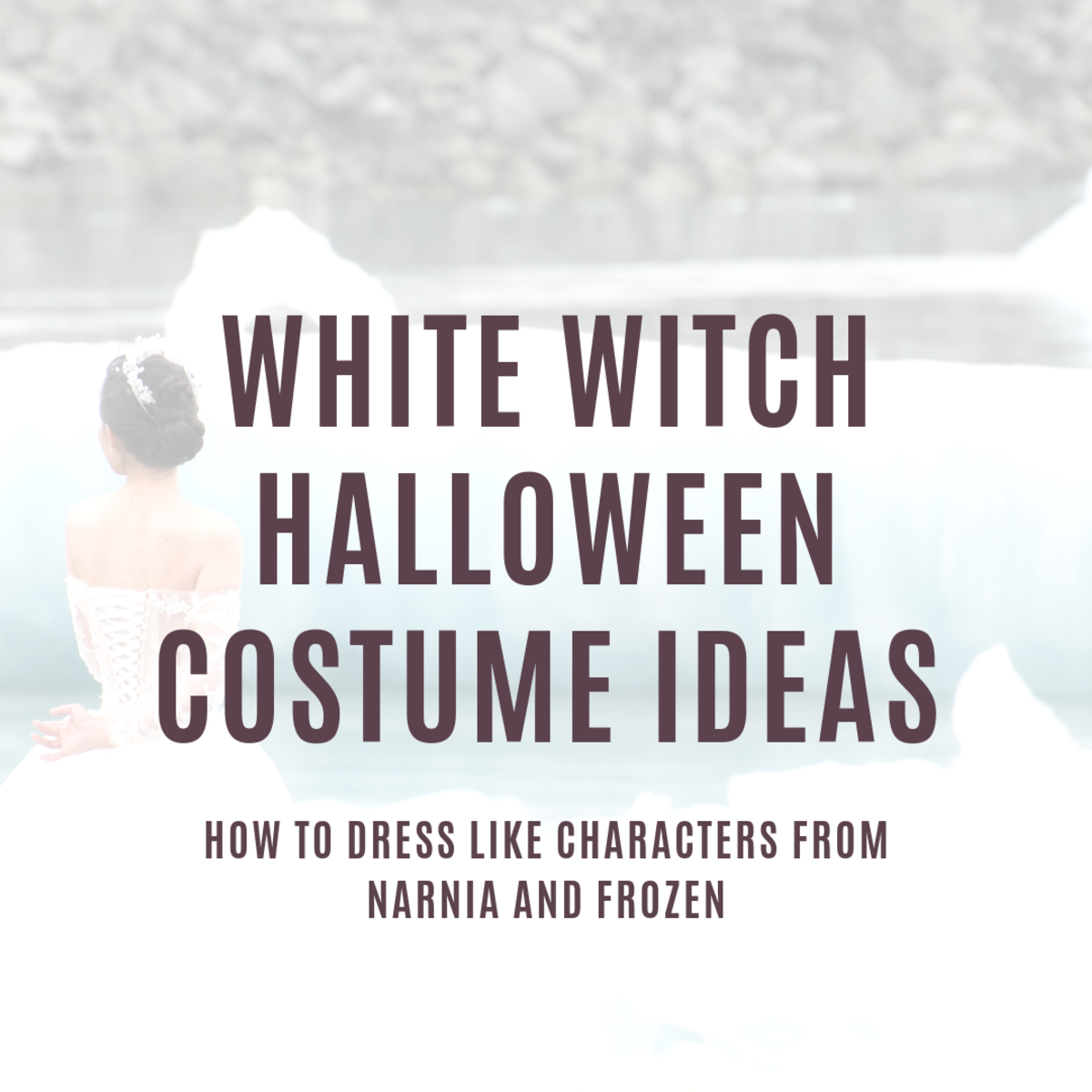 Here's a guide to making your own white witch or ice queen costume for Halloween or cosplay.