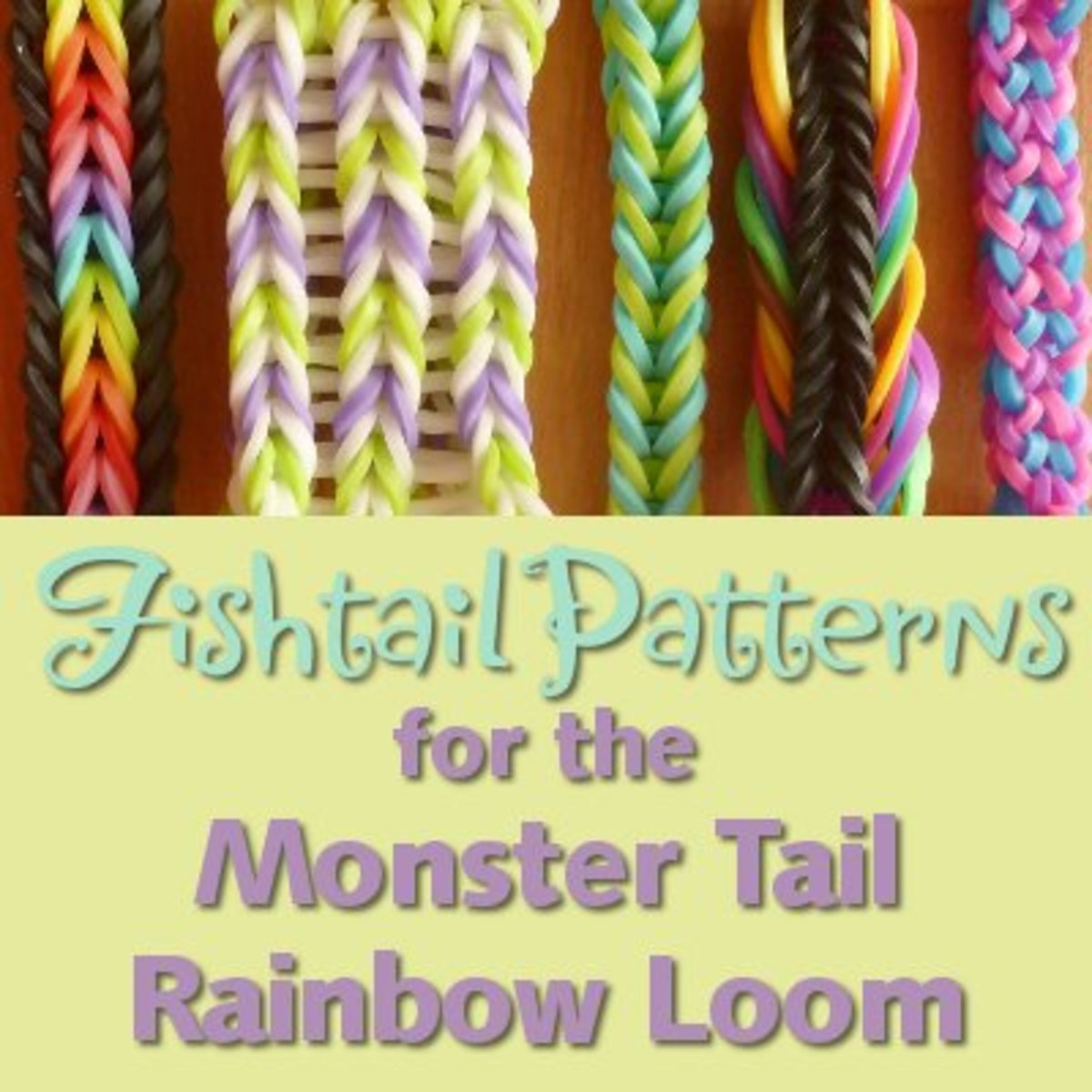 Lots of cool fishtail patterns for the MonsterTail mini Rainbow loom