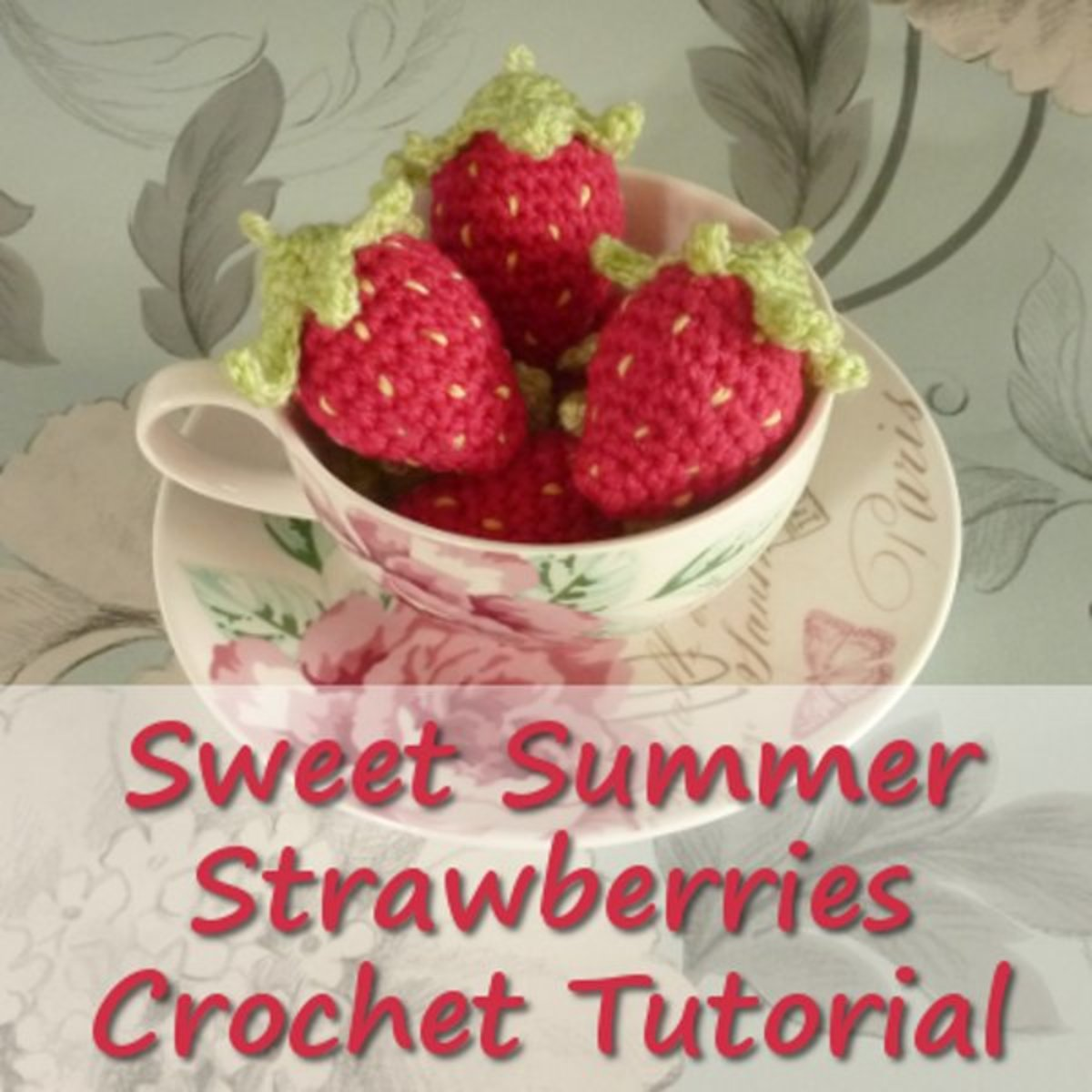 Free crochet strawberry pattern with a detailed how to photo tutorial.