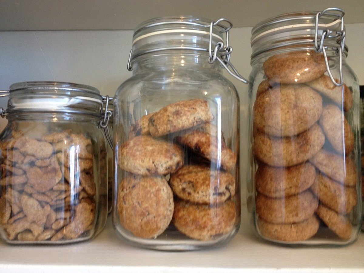 Fido jars keep my homemade crackers, scones and cookies fresh until we're ready to eat them