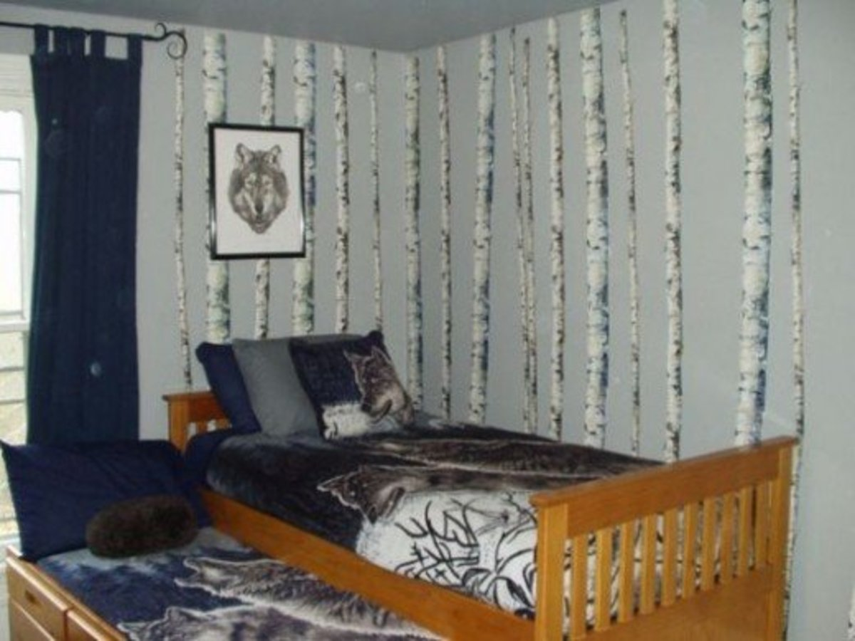 Wolf themed bedroom