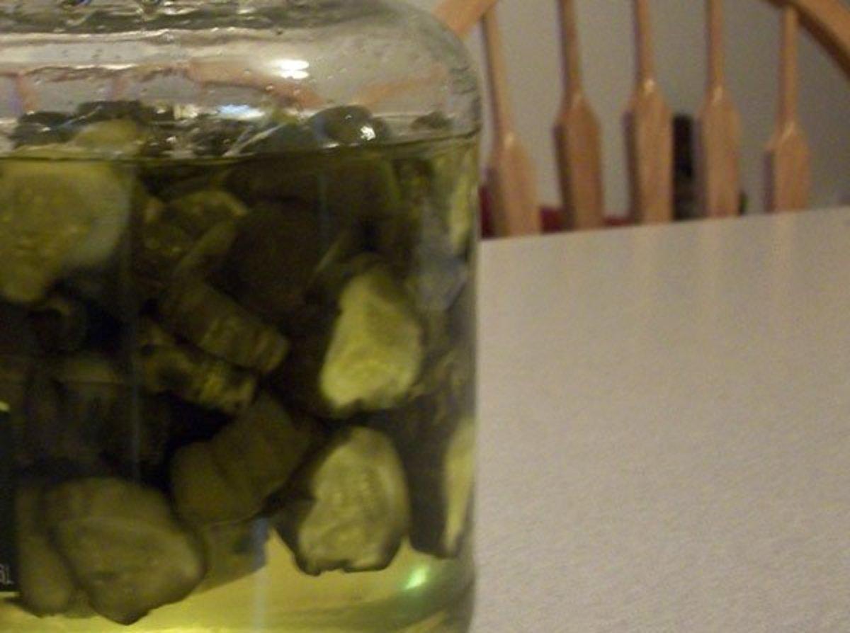 Sweet, Crunchy Homemade Pickles
