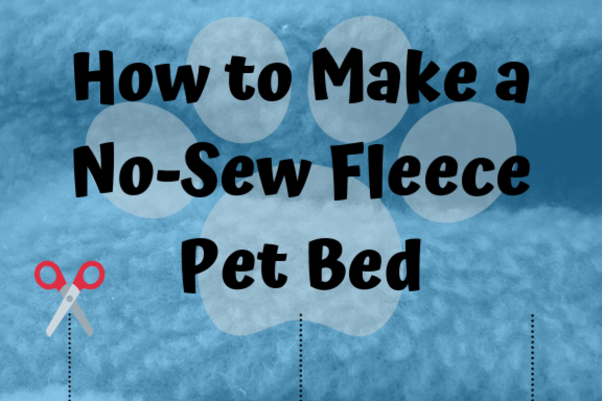 With a little cutting, knot-tying and stuffing, you can have a pet bed ready in 30 minutes.