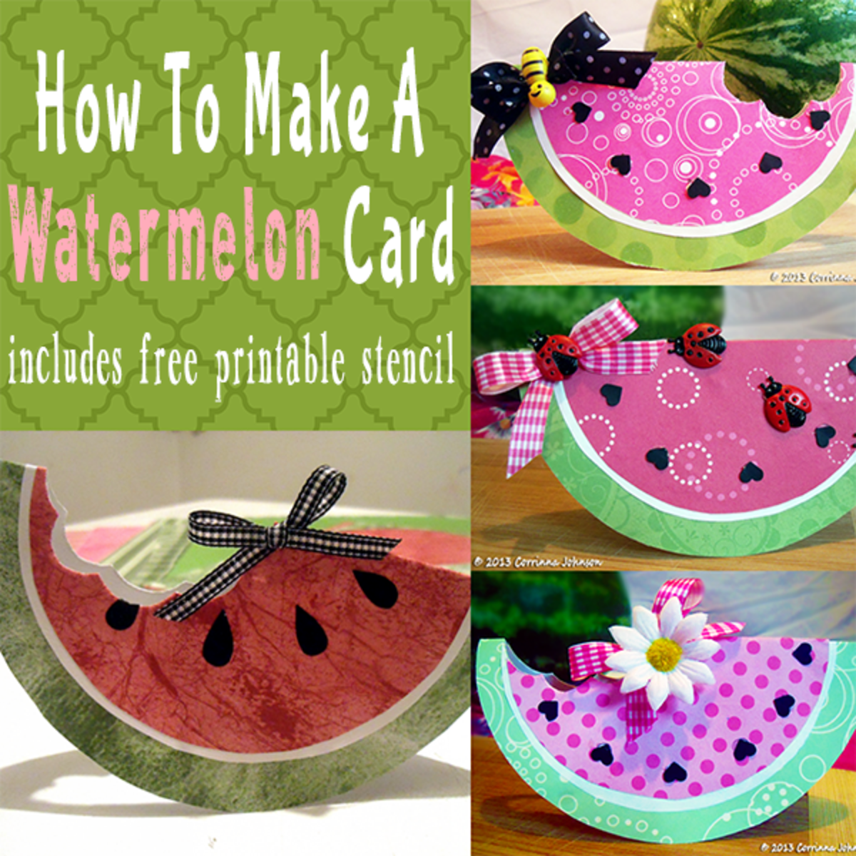 How to Make a Watermelon Card or Invitation for Summer Parties