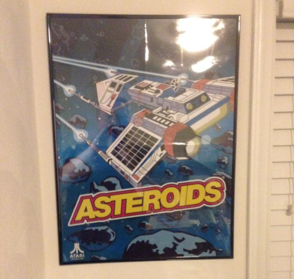 Poster framed without a mat.