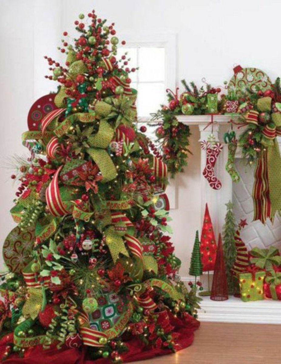 Decorate Your Christmas Tree With Bows Ribbon