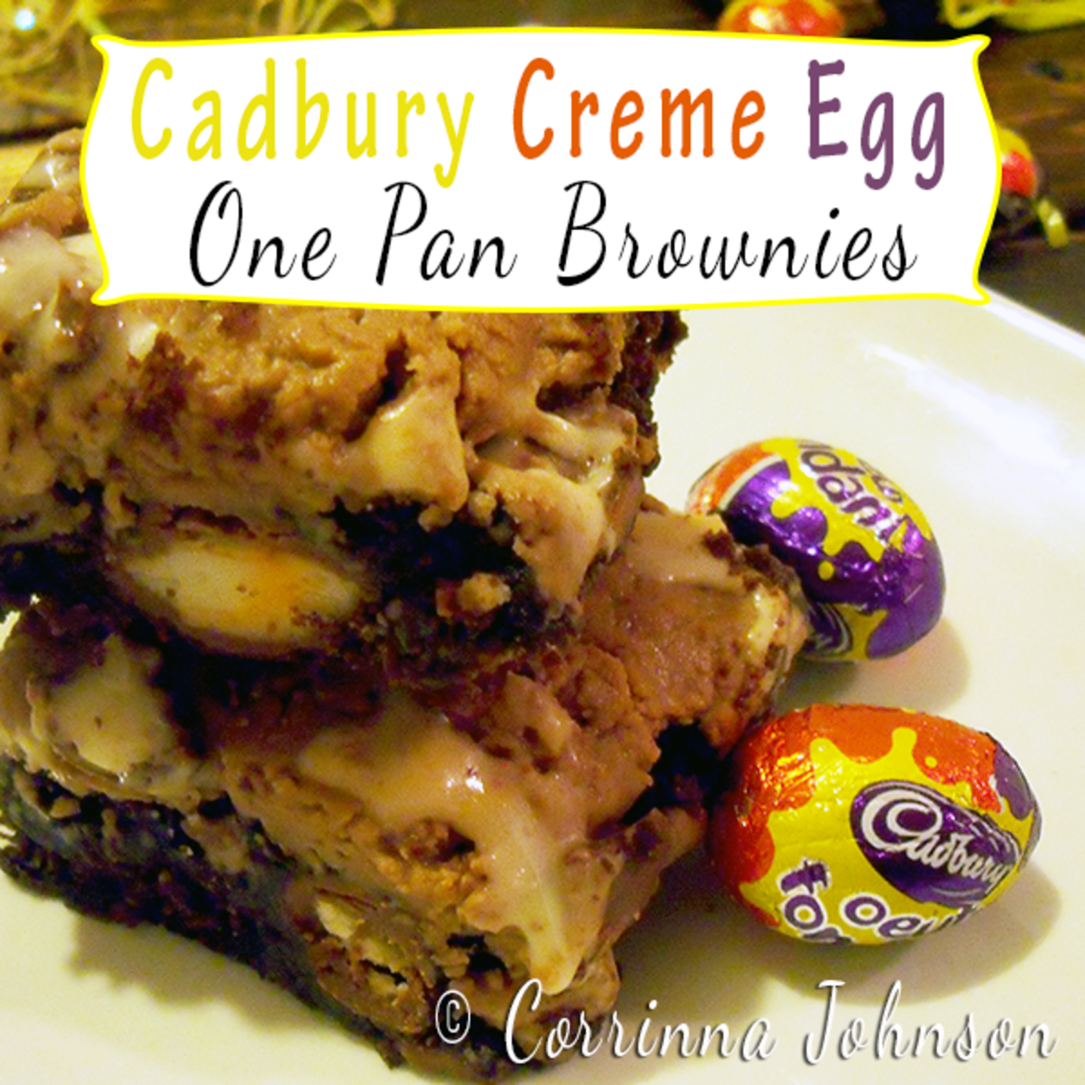 Cadbury Creme Egg One-Pan Brownies