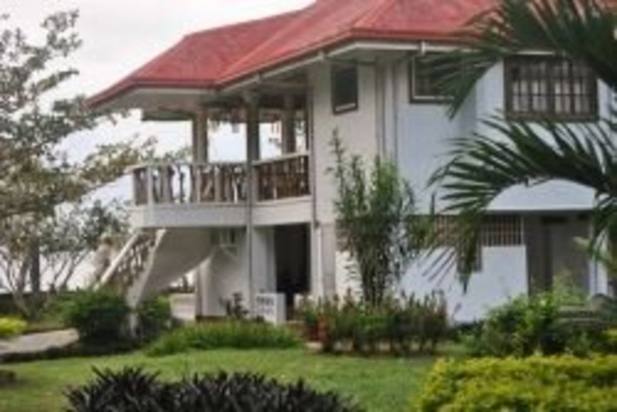 Back  and Side View of the Beach House, Boac, Marinduque, Philippines