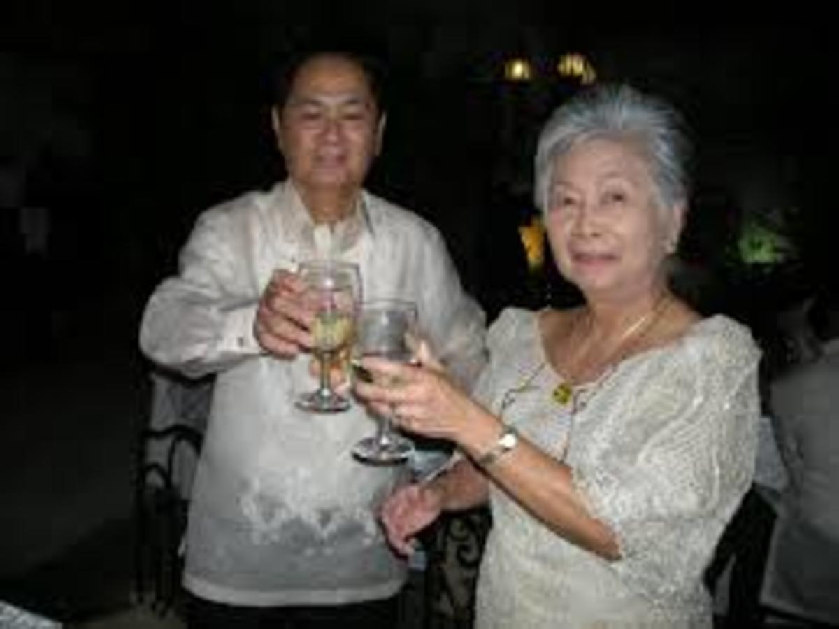 Toasting Champagne at Our Wedding Anniversary
