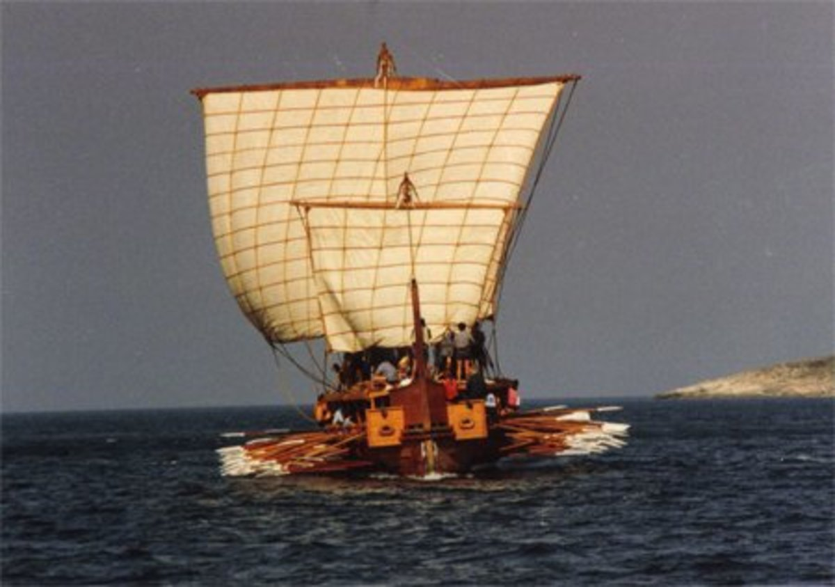 Reconstruction of the Olympias, an Ancient Greek Trireme
