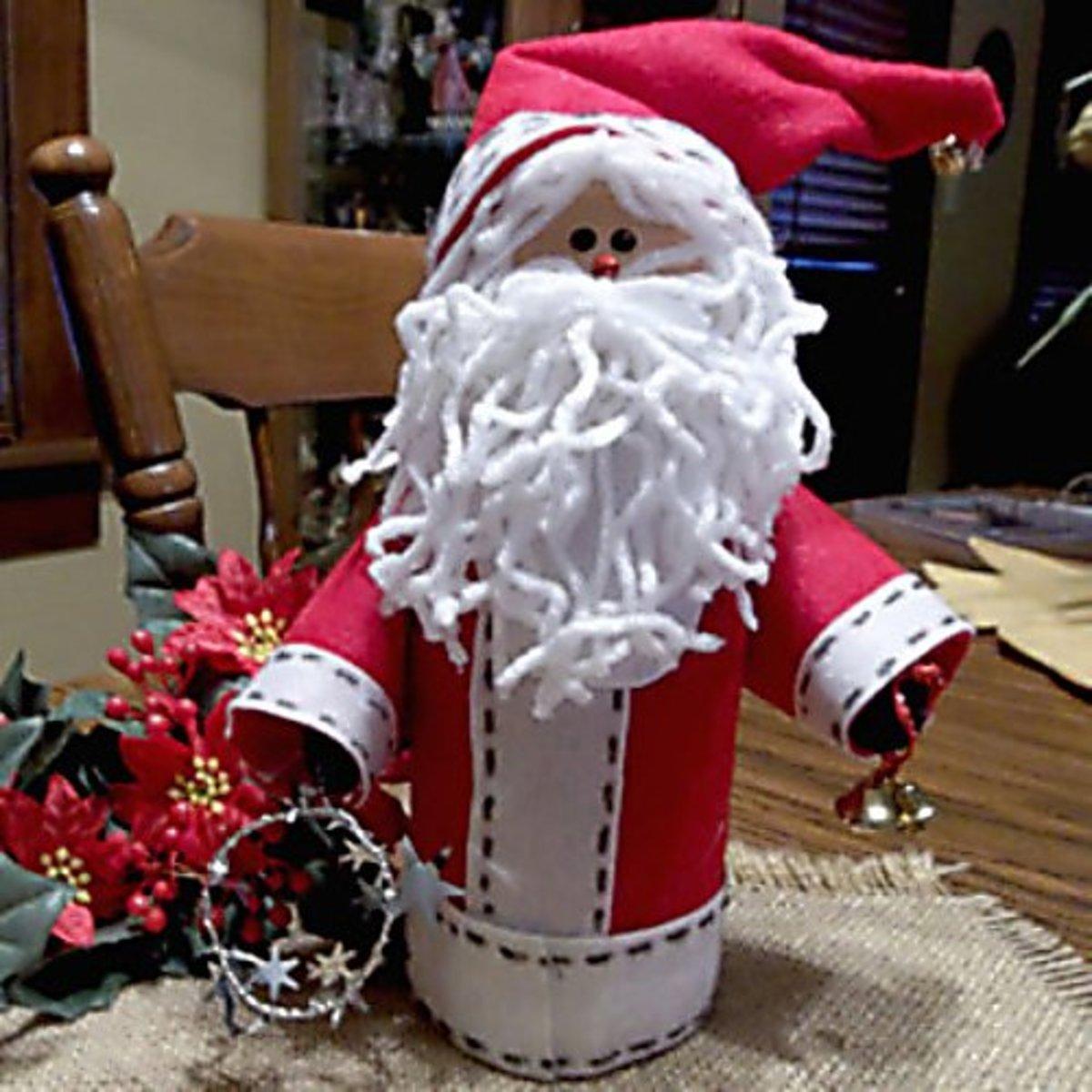 Santa Craft From Creamer Bottle | Holidappy
