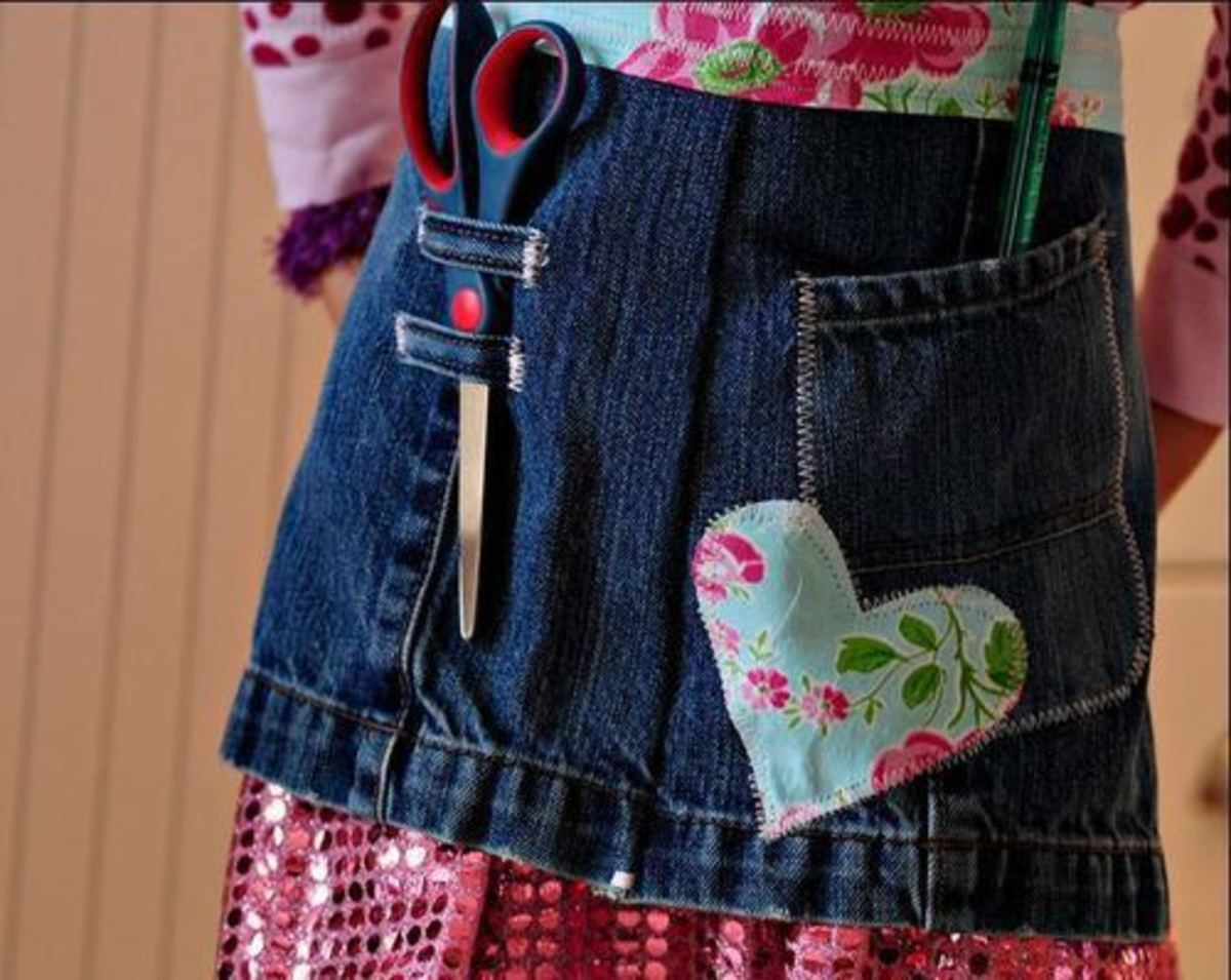 55 Craft Ideas Using Old Denim Jeans