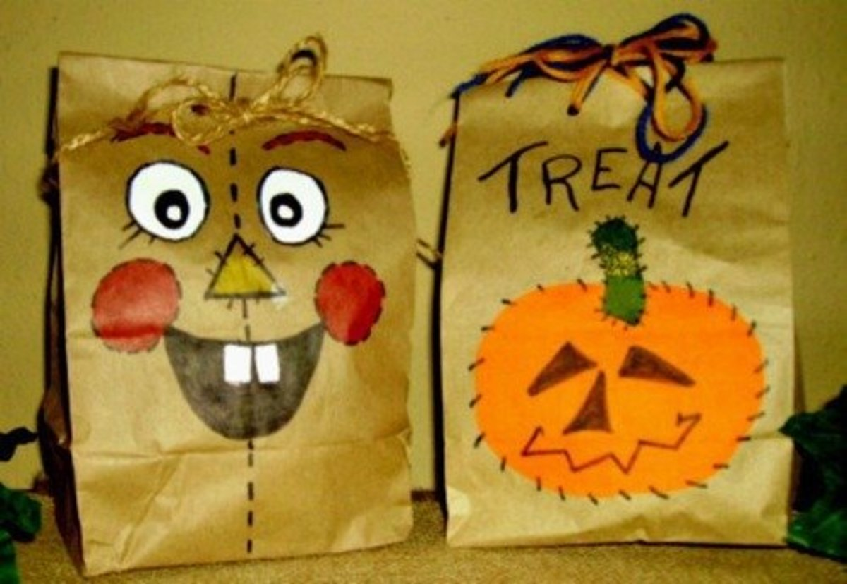 Halloween Brown Bag Treat Bags and 19 Treat Recipes