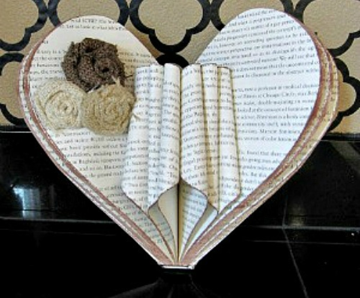 53 creative craft ideas using book pages feltmagnet for Book craft ideas
