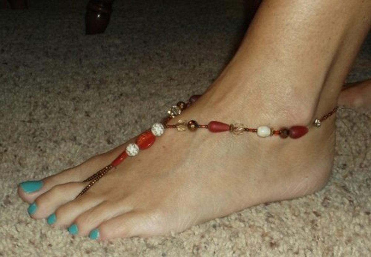 How to Make Beautiful Barefoot Sandals: Foot Jewelry