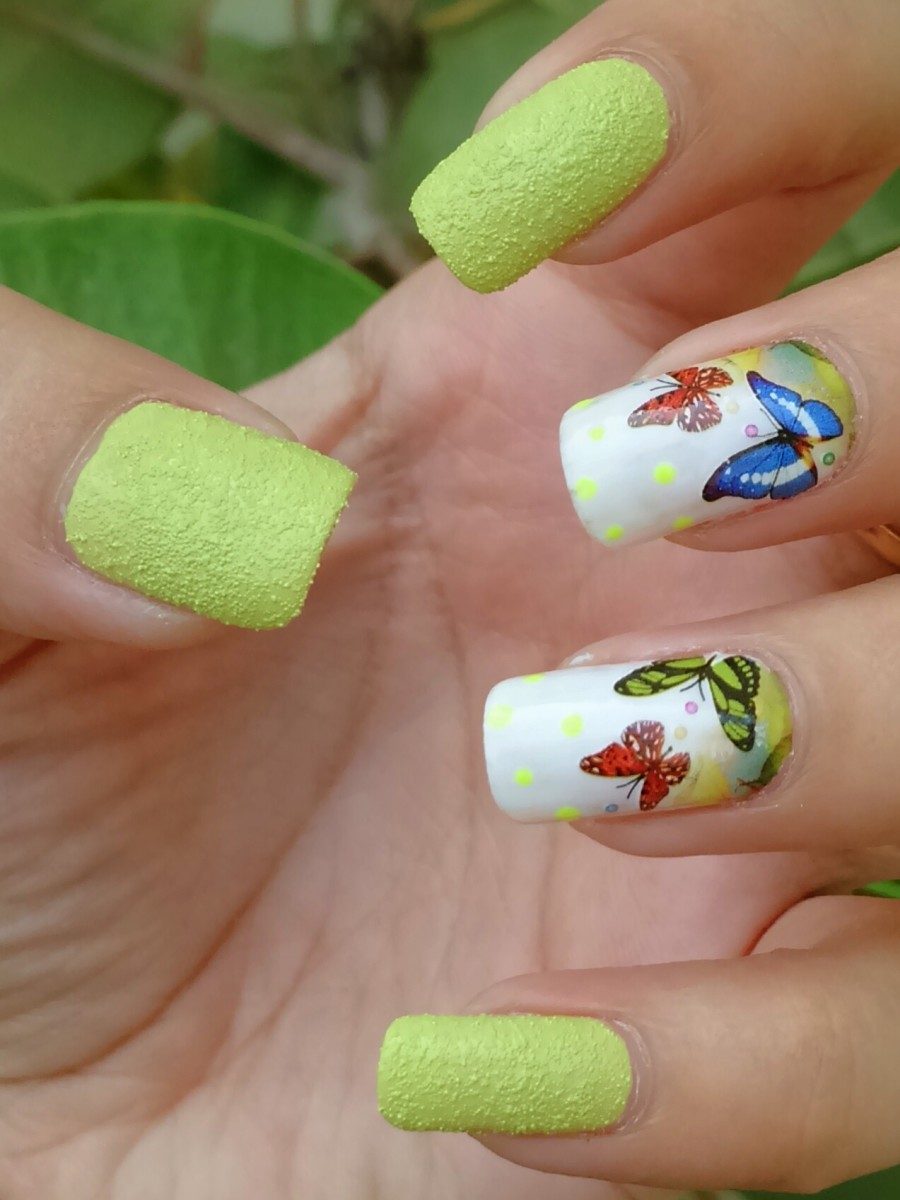 Water slide decals with China Glaze textured nail polish
