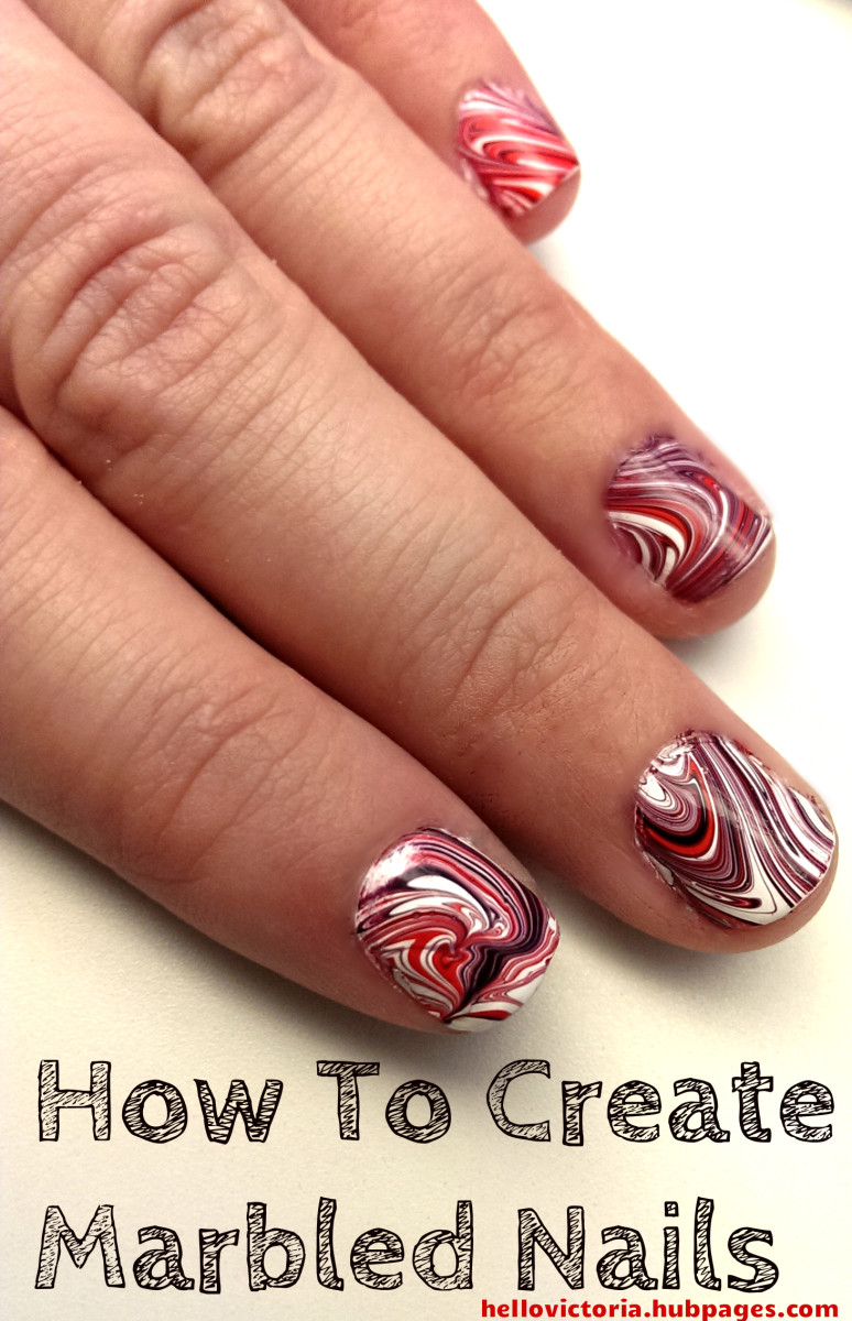 Create this marbled manicure at home!