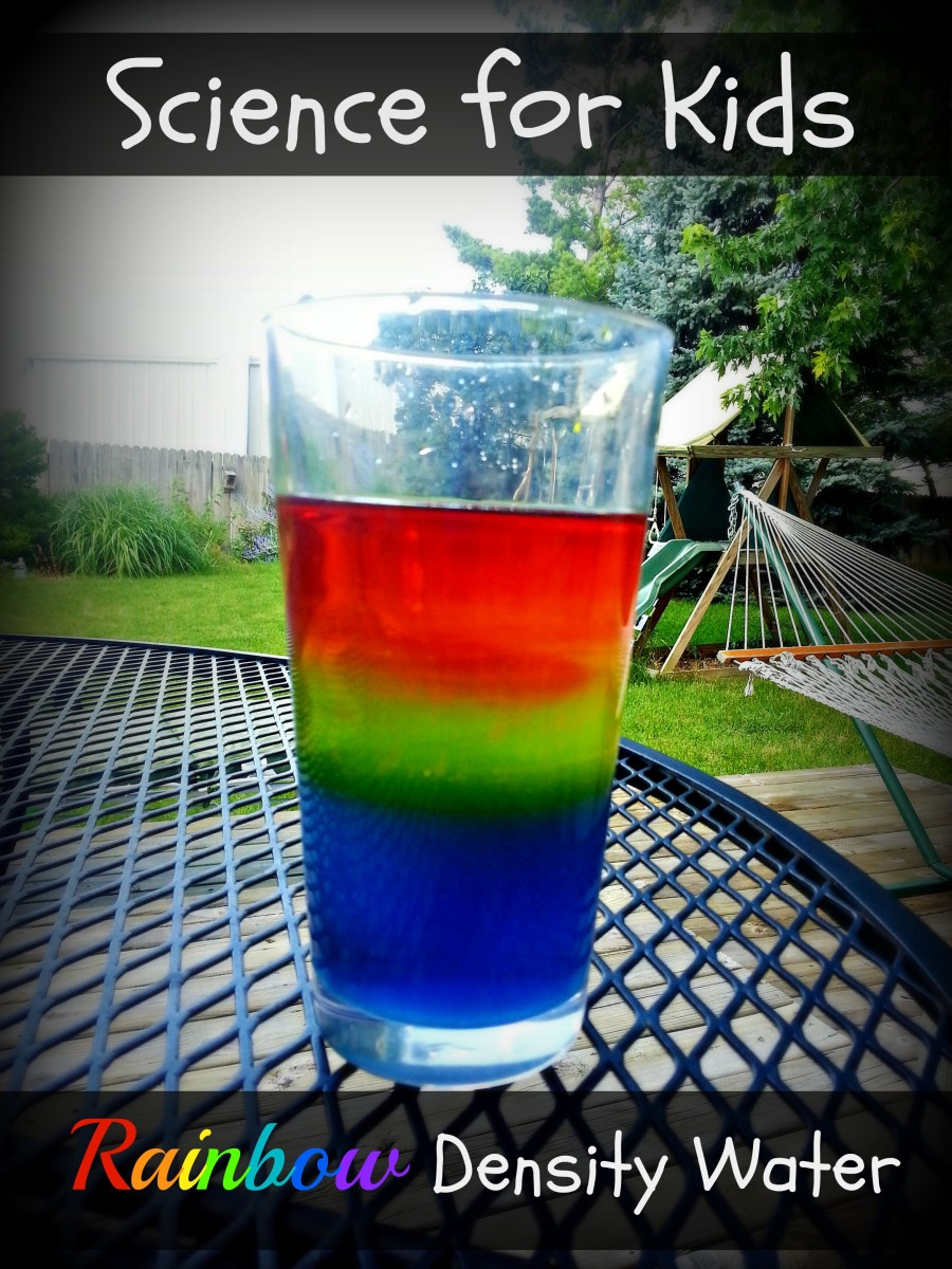 With just sugar and water kids can learn about density by making this beautiful rainbow water.