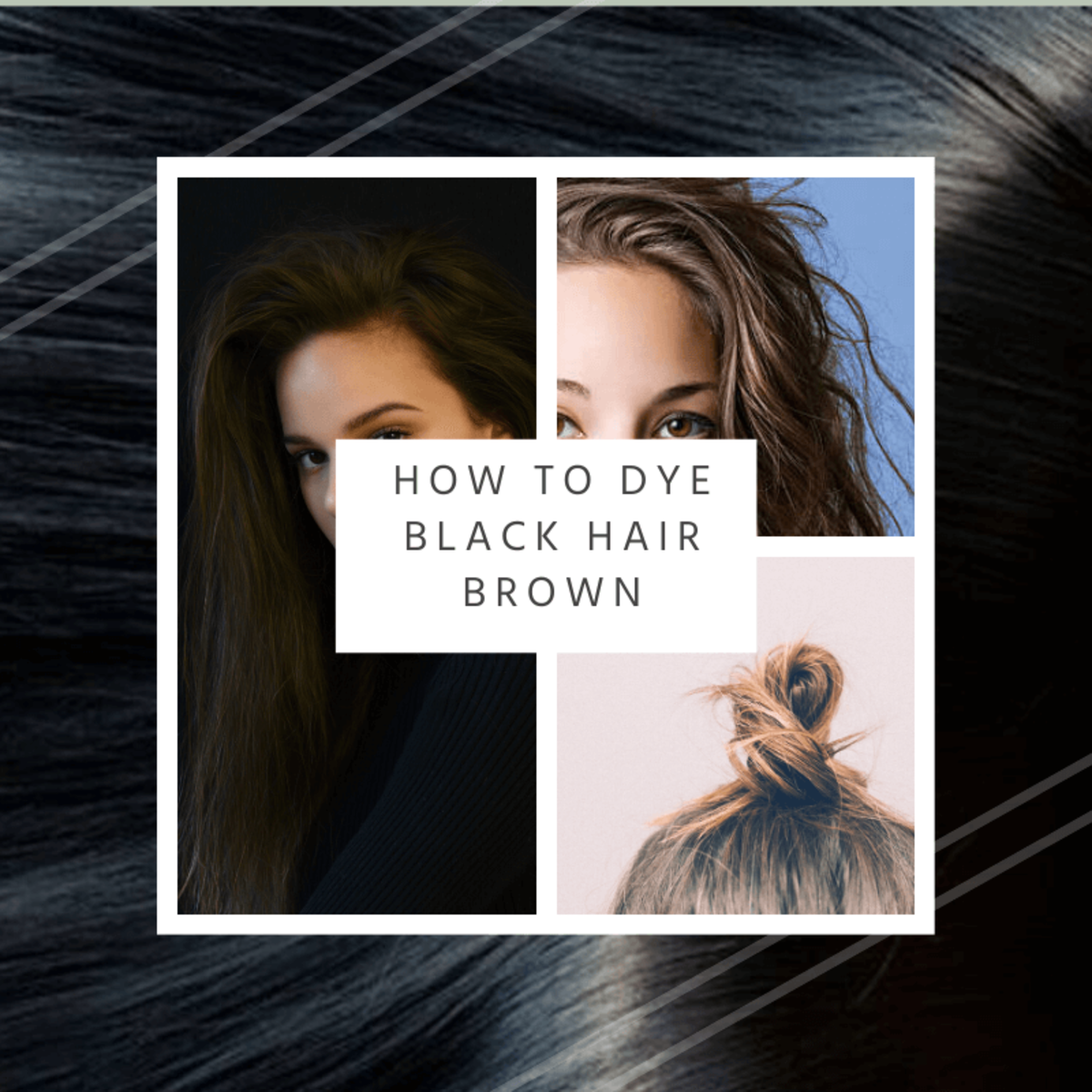 How to Dye Black Hair Brown