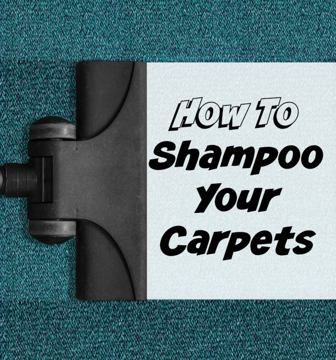 Shampooing the carpet is not difficult, just allow some time