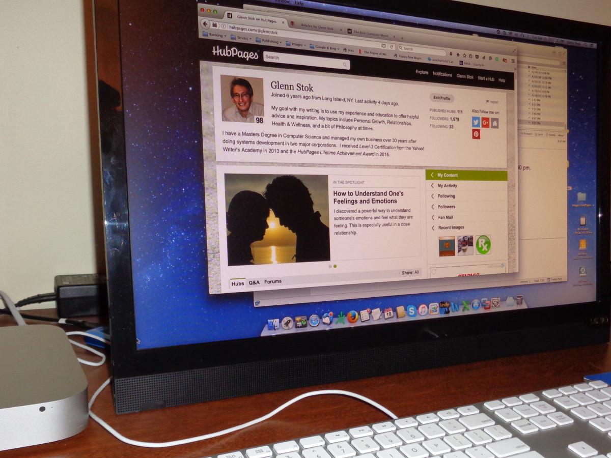 The Vizio HDTV I'm using as my monitor with my Mac Mini.