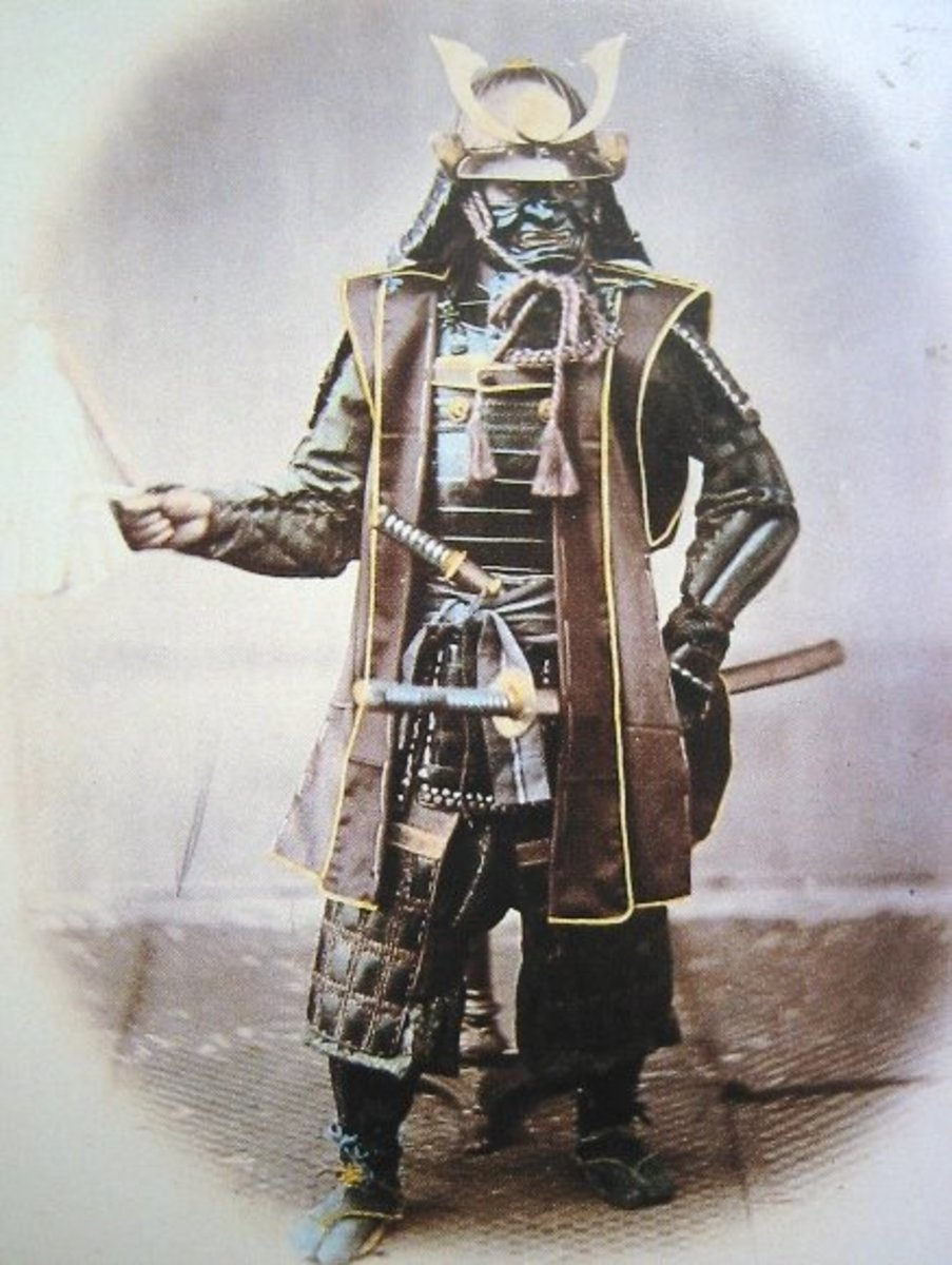 Photograph of Japanese Samurai in Armour